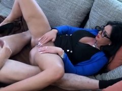 german big tits housewife with glasses punished by stepson