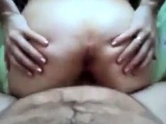 arab fucks girl & cums on her ass then fingers her to orgasm