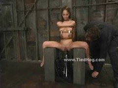 Babe gets herself in trouble in bdsm sex