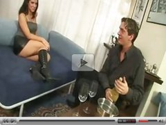Hot Eurobabe gets slave for birthday