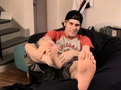 Gay men feet touching under table porn and foot from all