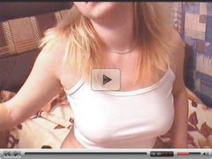 Russian Blond Bitch Live On Webcam