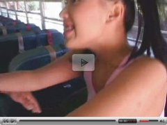 Avena Lee doing it in a bus.