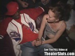 Slut Wife Sammi Takes Public Cumshots &amp_ Creampies In Tampa Porn Theater