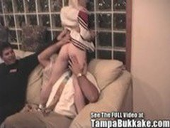 Bisexual Britni's Tampa Bukkake Style Group Sex Party