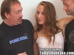 HOT Rocker Chick Gets Her 3 Holes Filled With Cum Tampa Bukkake Style!