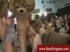 Cfnm ladies cant get enough of stripper cock