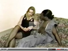 Blonde with black lover while boyfriend tapes
