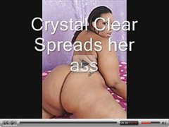 Crystal Clear Spreads Her Ass