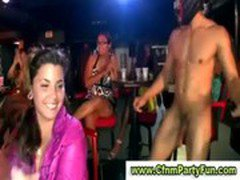Amateur babes at real cfnm party