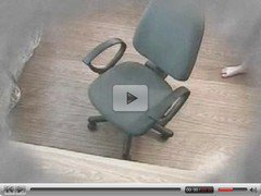 Hidden cam masturbation in a office chair
