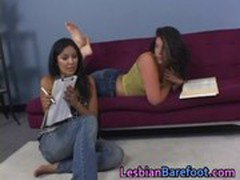 Hot Lesbians Pussy Licking and Toes