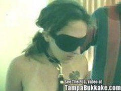 Sex Slave Blindfolded &amp_ Tampa Bukkake Gang Banged