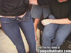 Two Girl Tampa Bukkake Sexual Tryouts! Will They Make The Cut?