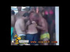 gangbang touching rubbing woman in public