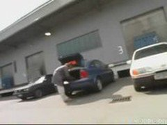 Hooker gets fucked in a parking lot,,...