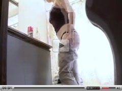 hidden cam,  spycam,  spying,  bathroom,  teen,  tits,  voyuer