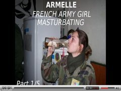 Amateur French Army Girl Armelle - Part 1-5