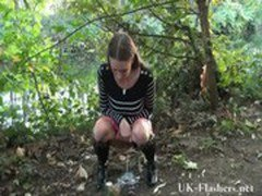 Sexy english milf Randy masturbating outdoors and flashing her local neighbourho