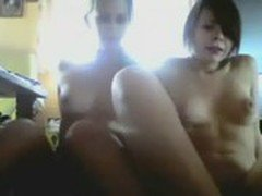 Two super cute teens strip, flash and finger on webcam