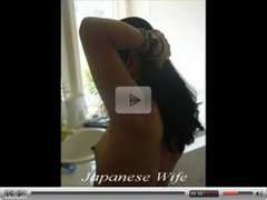 Japanese Wife takes it in both holes