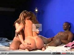 Interracial Threesome #1