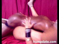 Hot black amateur couple fucking on webcam