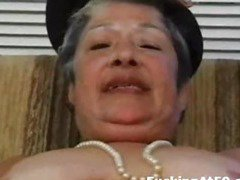 Horny granny masturbate till cum and get hardcore fucked by badass