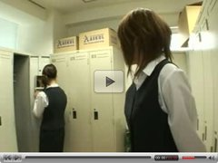 Japanese babes in uniform kissing 1