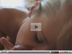 Blonde Strips for Boyfriend Then Gives Blowjob
