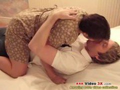 Chubby milf and her partner having sex