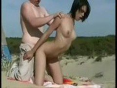 French Babe Fucked at Public Beach