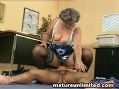 Moms Fingering  her fat hairy pussy
