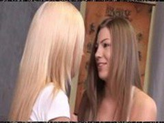Two sweet lesbian teens try anal 2