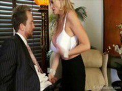 Busty Boss Sucks Cock In Her Office