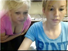 2 girls - Mature and young in webcam