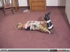 BLONDE HOGTIED & GAGGED