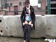 Teen Indian Zarina Massoud Peeing Outdoors