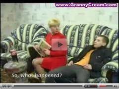 Blonde Russian Mature Mother and Boy
