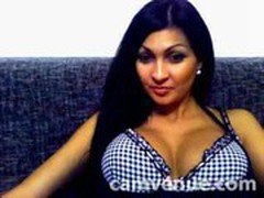 Home latina strip on cam