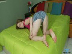 Cute natural redhead teen orgasm