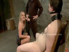 Blonde bitch in female domination sex