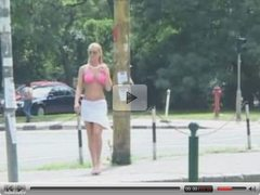 Nude In Public Blonde British Slut 2
