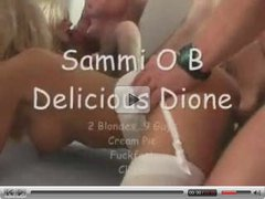 2 blondes,9guys creampie