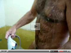 Hairy Shower Hard On