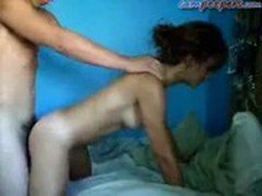 Cute teen gets pounded doggy style