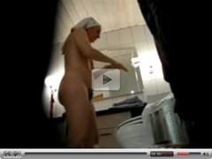 Hairy mum spied totally naked in bathroom