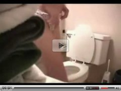 My girlfriend was caught by hidden cam in bathroom