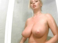 big titted girl in shower