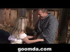 blonde sexy girl doing hardcore sex with farmer hardcore sex 1